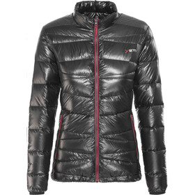 Y by Nordisk Cirrus Veste en duvet ultra légère Femme, black/ribbon red